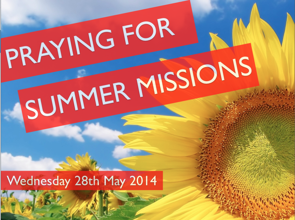 PRAYER FOR SUMMER MISSIONS